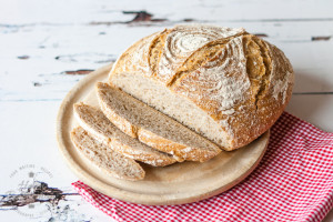 Barley sourdough, inspired by the process of making Scotch whisky