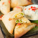 Recipe: Baked Rice Samosas
