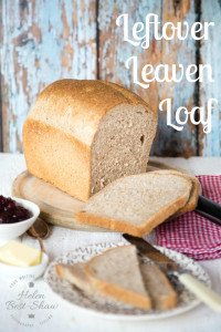 A yeasted laof that uses up leftover sourdough leaven that otherwise is wasted.