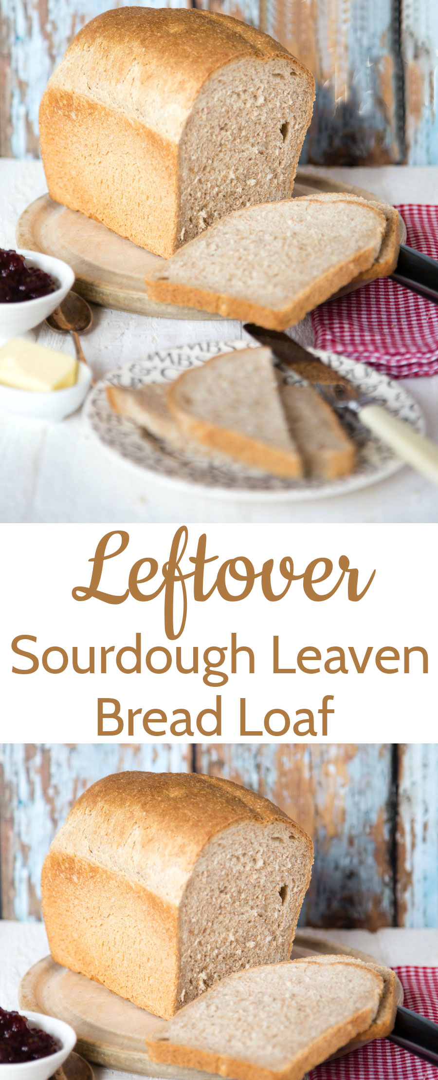 A yeasted loaf that uses up leftover sourdough leaven that otherwise is wasted.