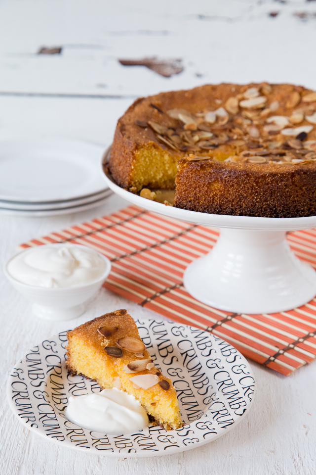A delightfully light and very lemony polenta and almond cake from Sophie Thompson's My Family Kitchen