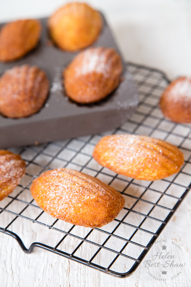 These beautiful little French cakes are astonishingly easy to make and will always impress. This version is dairy free and gently flavoured with orange and honey.