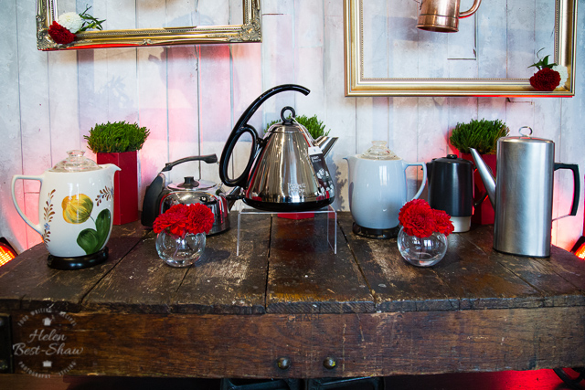 Russell Hobbs vintage kettles - I adore both the floral pained ceremic kettle, and the sleek modern coffee pot shaped one.