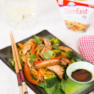 This stir fry using konjac noodles is incredibly low in calories, but packed with vegetables and will fill you up.