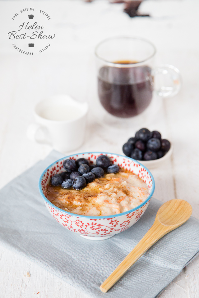 Mix up your morning porridge, and get well on the road to 5-a-day by adding some carrot and apple.