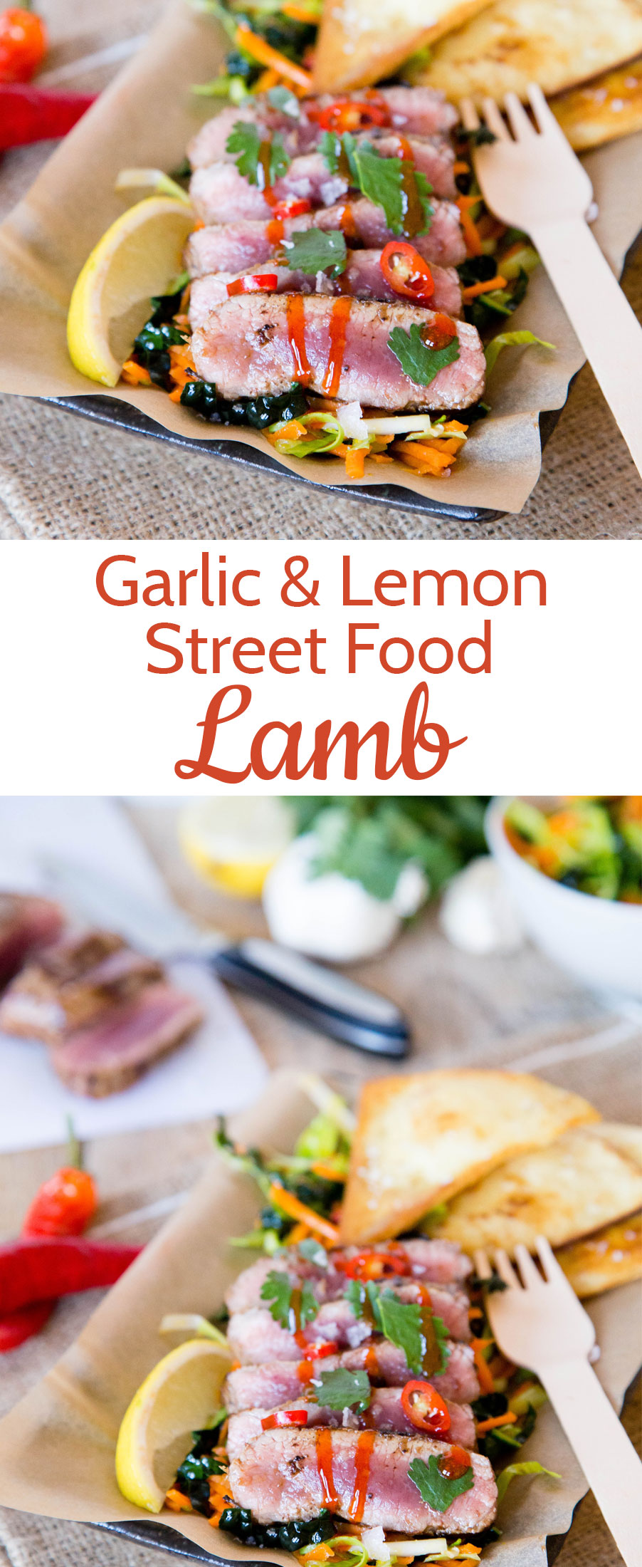 Street food is big on flavour and so popular. This easy recipe for lamb with garlic and lemon is so quick to cook, and meltingly tender.