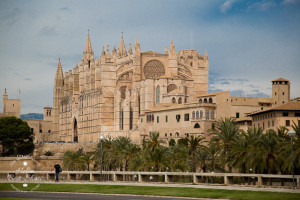 Palma de Mallorca Cathedral from the beach