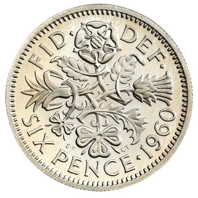 Sixpence coin for a Christmas pudding
