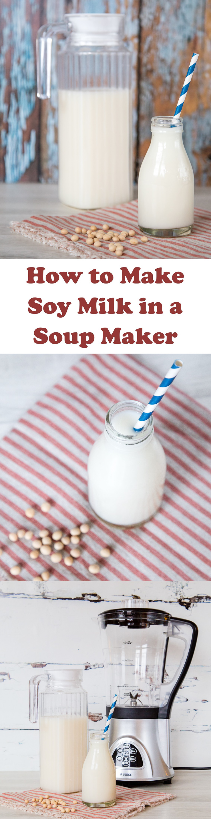 Soy milk is easy & frugal to make at home, as well as far better for you than shop bought in cartons. This recipe uses a soup maker so it is really simple