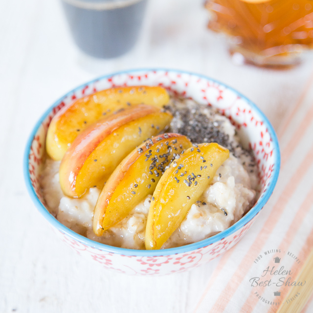 coconut maple apple porridge oatmeal
