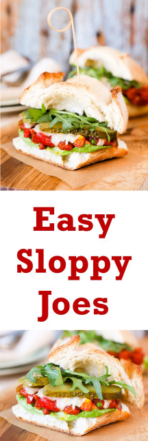 These easy sloppy joes are made with specialty sausages, store cupboard and freezer ingredients