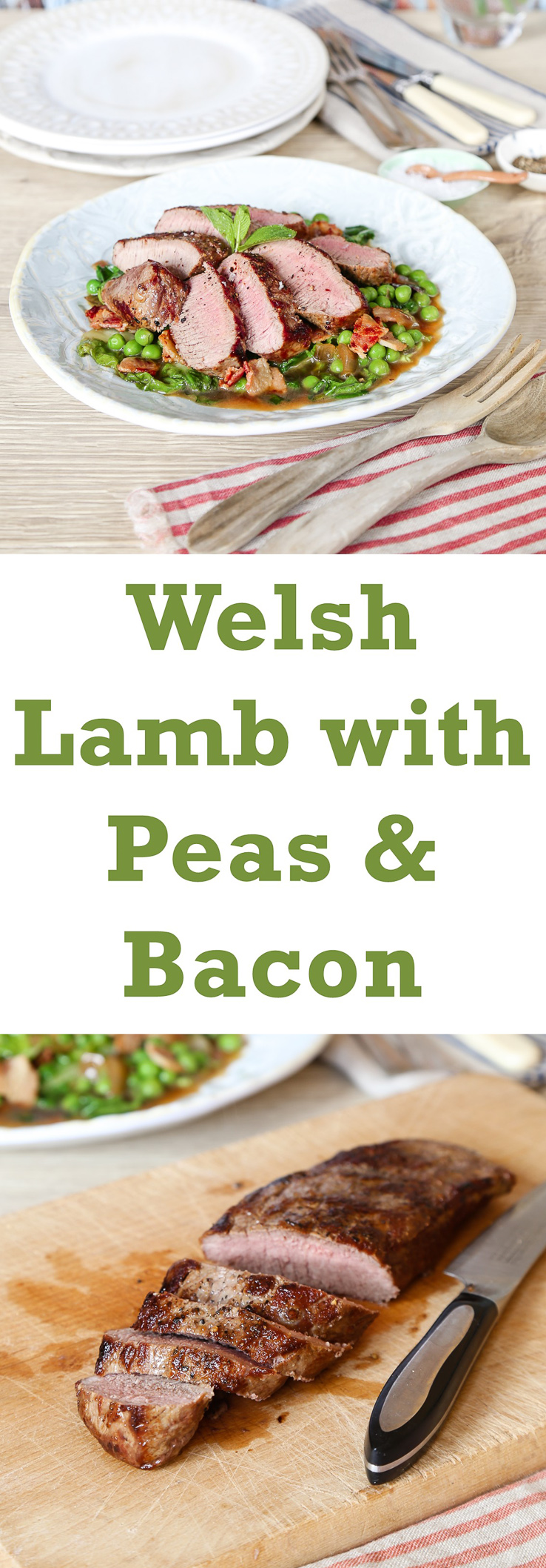 Bryn William's Loin of Welsh Lamb with Peas & Bacon | Fuss ...