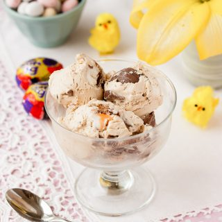 Easy no-churn Cadbury Creme Egg ice cream