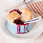 This 4 ingredient pot pie is a twist on the traditional blackberry and apple pie. Vegan too