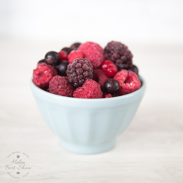 Frozen berries are so useful for smoothies and puddings