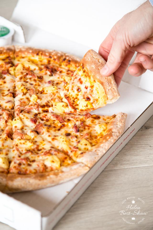 Papa Johns Ham Hock and Pineapple pizza