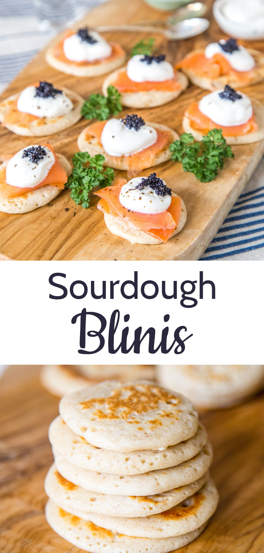 These tasty savoury buckwheat blinis are made using sourdough leaven. Perfect served as a base for canapés, or breakfast pancakes with a difference