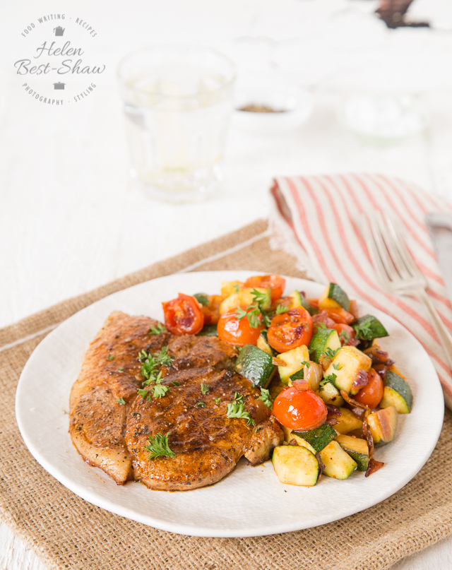 These Southern spiced pork steaks and rich, smokey and irresistible as well as very simple to make.