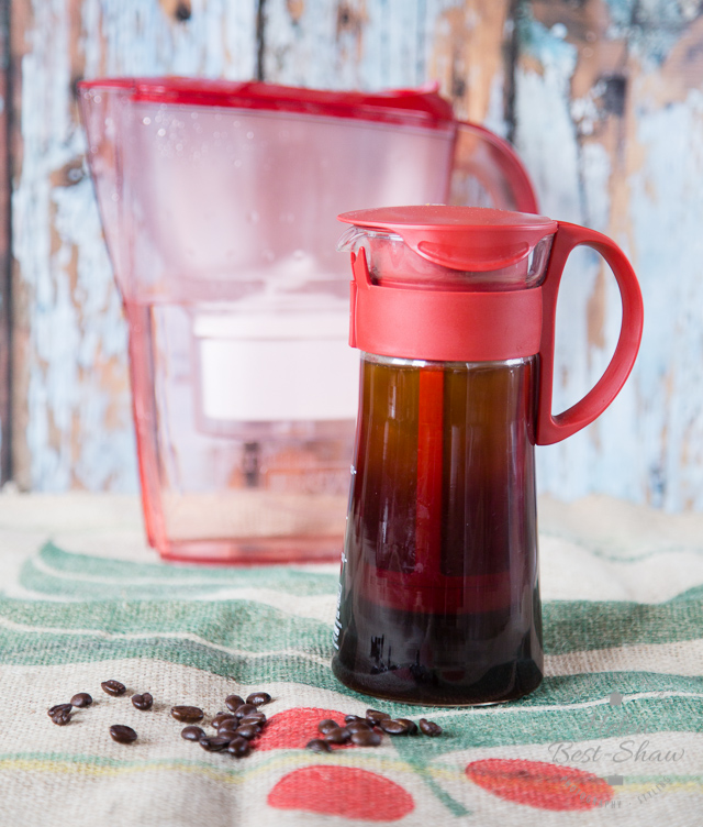 Crystal clear cold brew coffee made with BRITA filtered water