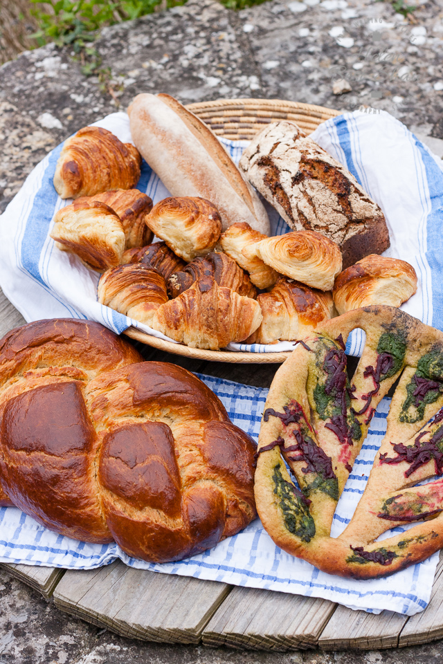 A selection of bread made on the River Cottage advanced bread course