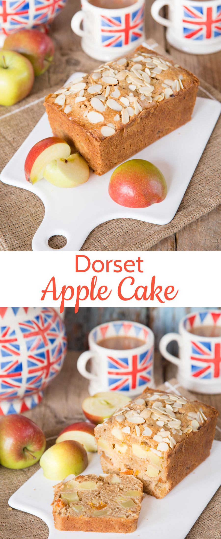 This flavourful Dorset apple cake is simple to make, delicious, and beautifully moist from chunks of apple. Add a dollop of cream for a real treat - British baking at its best!