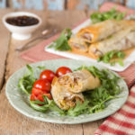 A delicious twist on the classic sausage roll, this easy to make vegetarian version packs a delicious punch using veggie sausage, and crispy filo pastry