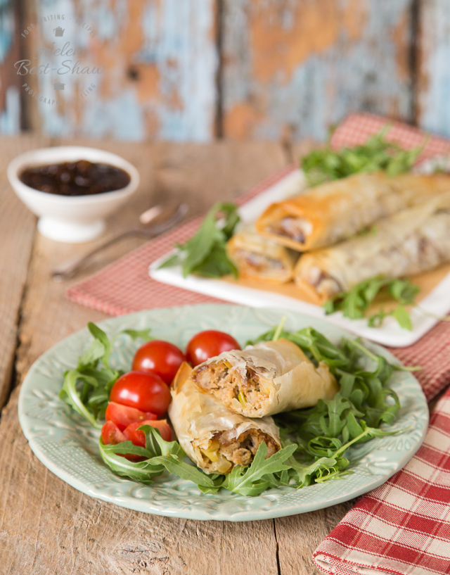 Crispy, cheesy, veggie sausage rolls - A delicious twist on the classic sausage roll, this easy to make dish packs a delicious punch using veggie sausage, and crispy filo pastry