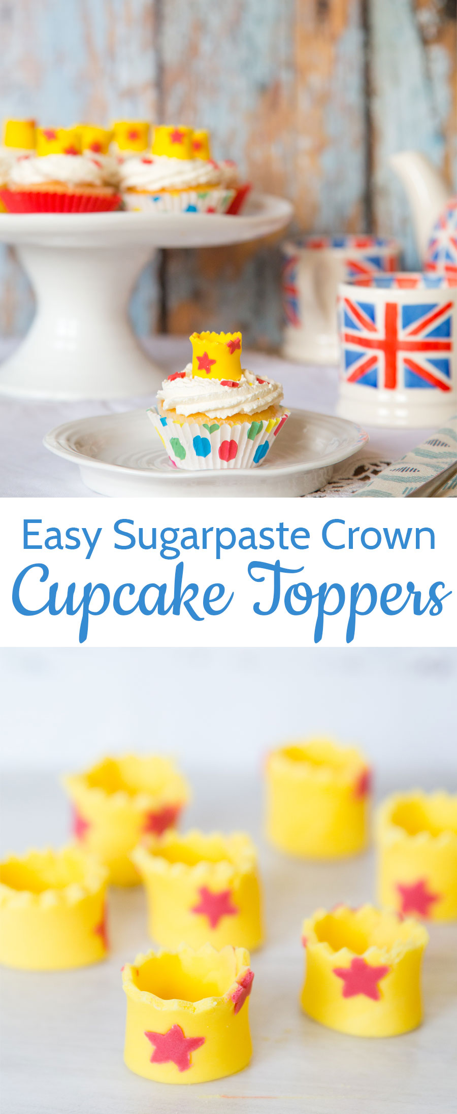 A tutorial for making these simple crown cupcake toppers - ideal for a princess party!