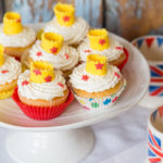 Elderflower & Cream Crown Cupcakes (& how to make easy crown cupcake toppers)