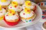 Elderflower cream cupcakes with crown cupcake toppers-2