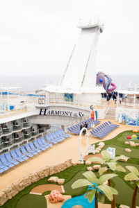 Harmony of the Seas - on deck
