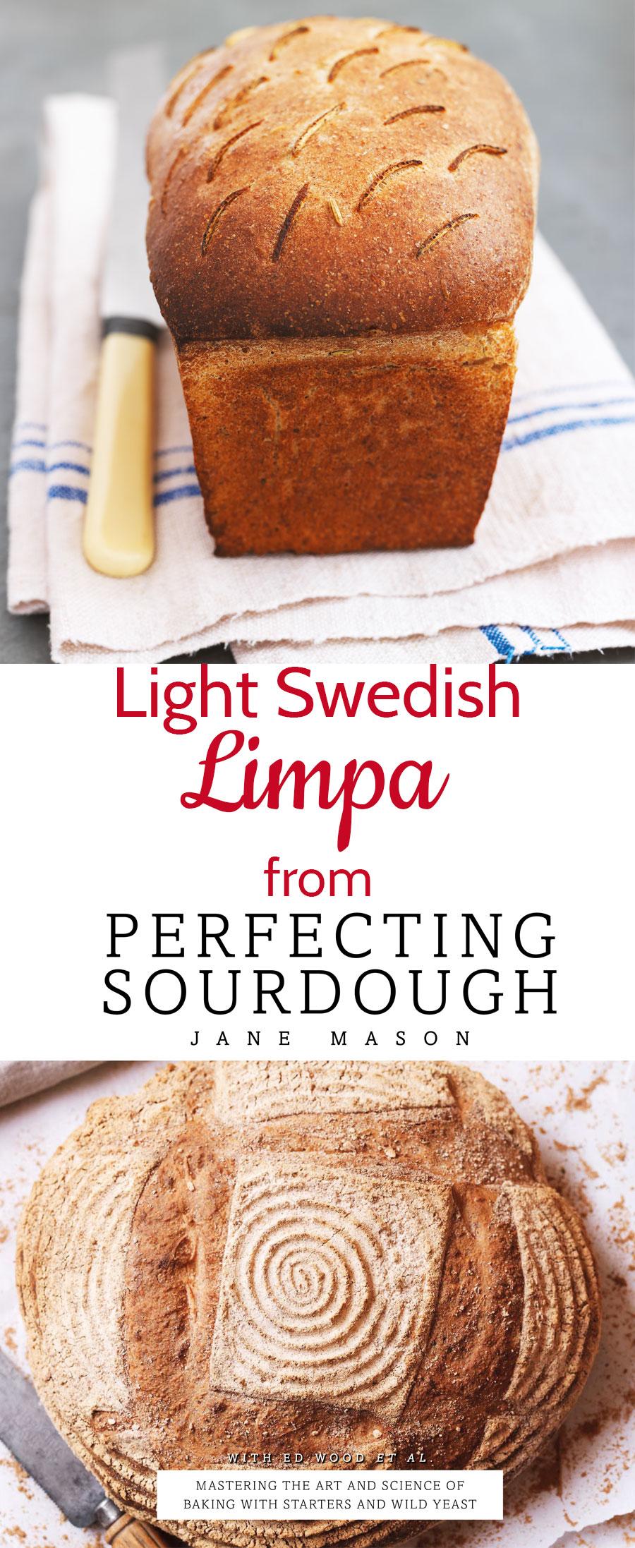 Light Swedish rye Limpa sourdough bread is a delicious alternative to wheat flour bread. Recipe from Perfecting Sourdough by Jane Mason