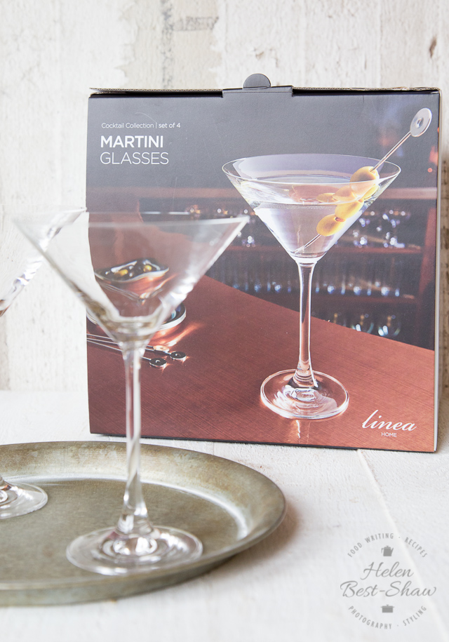 Stylish martini glasses from the House of Fraser's Linea range