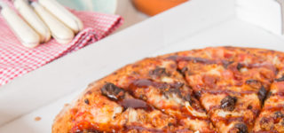 A savoury delight with Papa John's BBQ Beef brisket pizza