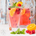 Cranberry, Raspberry and Orange Sparkling Cooler