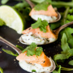 Recipe: Salmon ceviche canapés with herbed mayonnaise