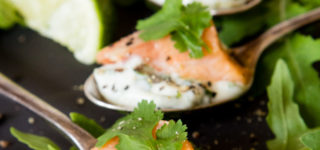 You will love this easy salmon ceviche recipe, pair it with a herbed mayonnaise to make impressive and delicious canapés.