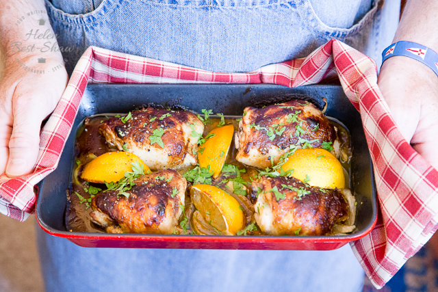 You will love this quick 'n' easy honey mustard chicken tray bake, that makes its own gravy. Simply pop all the ingredients into a roasting pan and bake. Hands on time is less than 5 minutes.