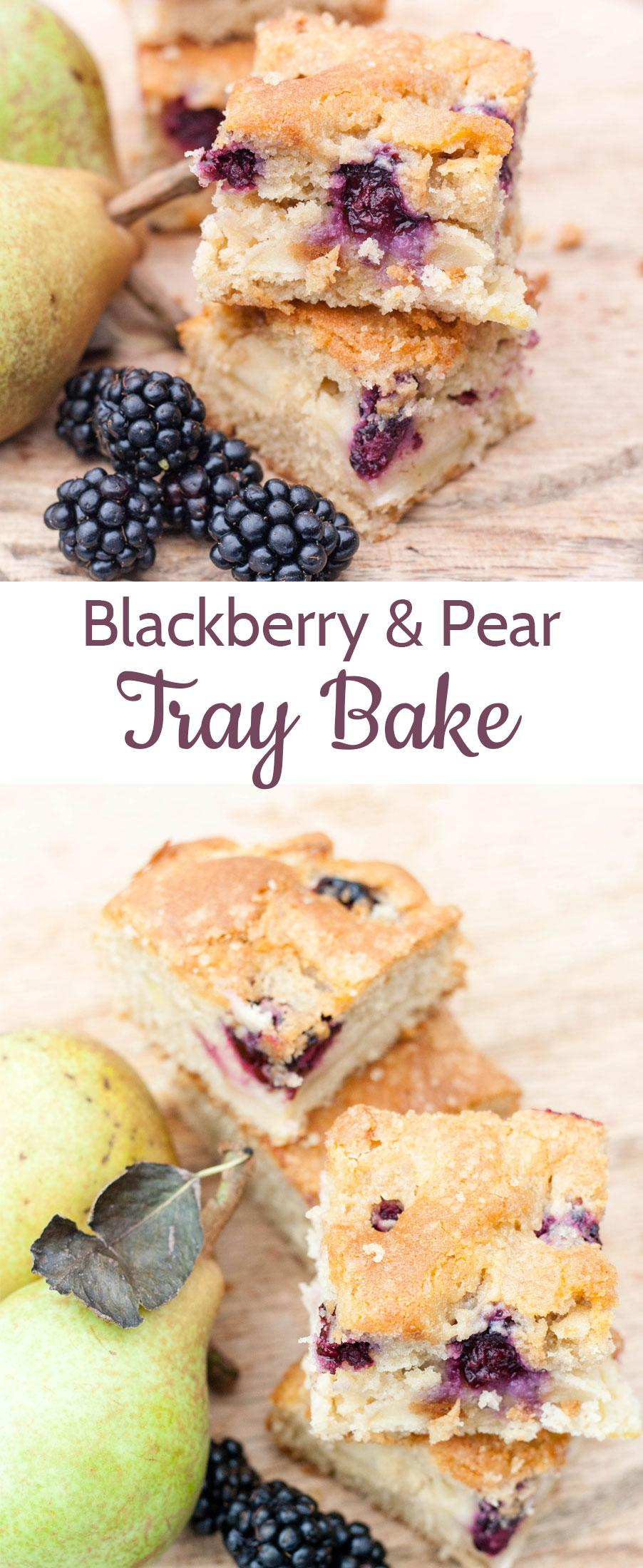 Recipe blackberry pear traybake for Blackberry pear jam
