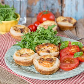 These mini quiche Lorraines are meat free and made with Quorn™ bacon. They are deliciously perfect for picnics and packed lunches and the whole family will enjoy them.