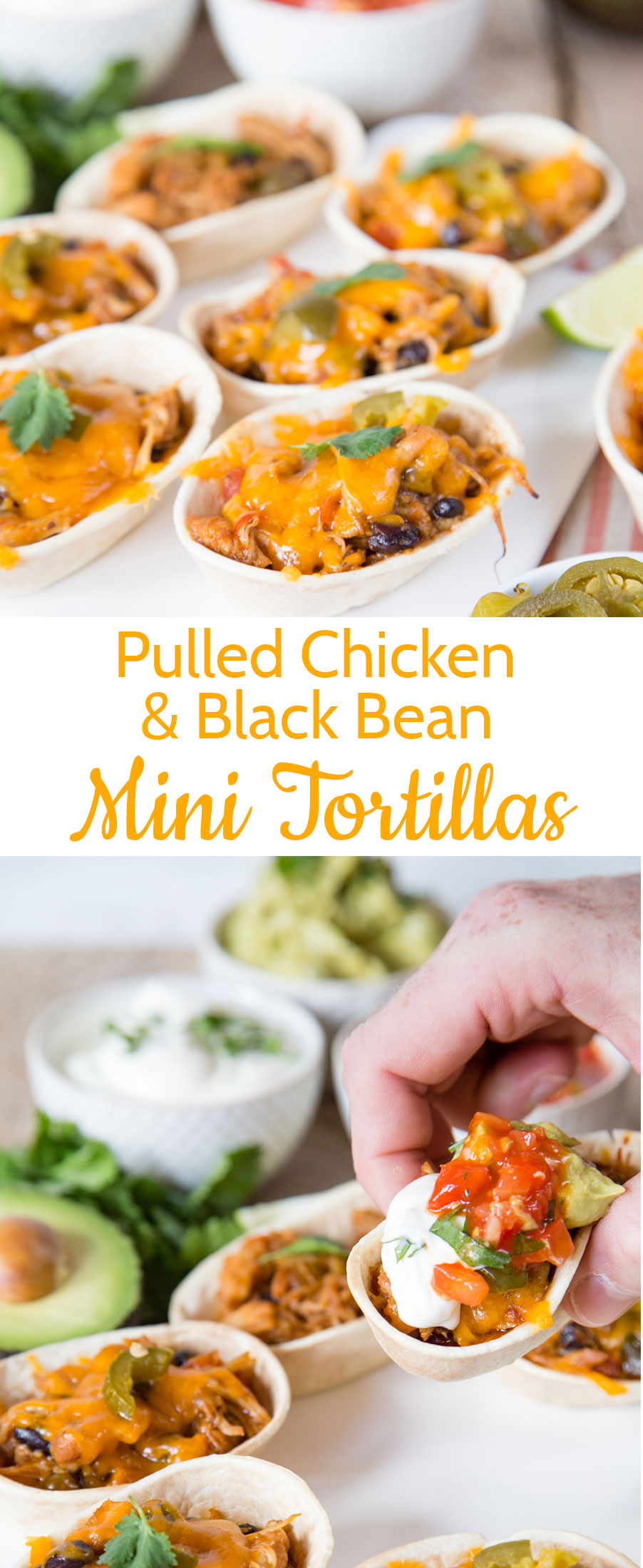 Mexican pulled chicken with black beans is an easy make ahead dish ideal for filling tortillas, or tacos