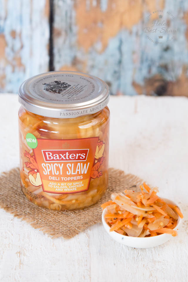 Enjoy this Baxters Deli Toppers Spicy Slaw in a street food style spicy slaw fritter