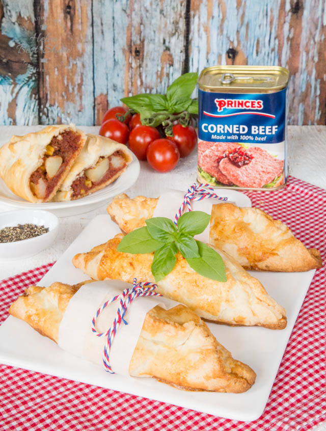 These corned beef pasties make an easy, satisfying and comforting family meal. Perfect for after a day at work or school.