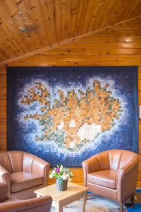 The Iceland quilt, Hotel Ranga, South Iceland