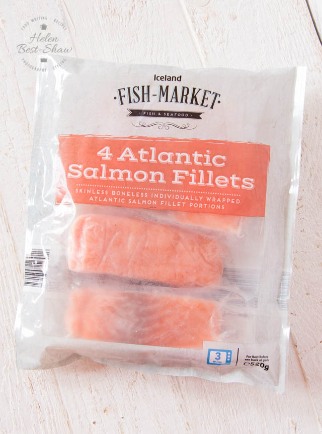 Iceland fish market salmon steaks