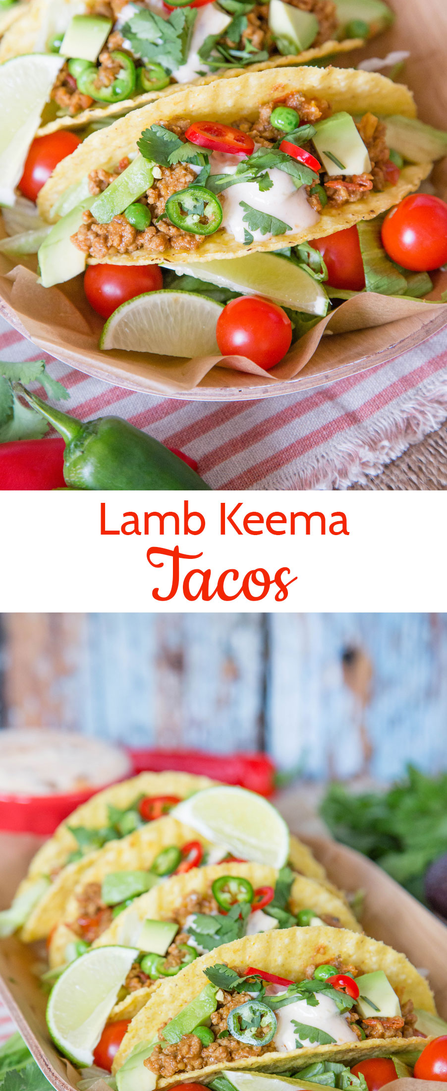 Enjoy the versatility of Indian inspired lamb keema with these fusion Indian Mexican crispy tacos.