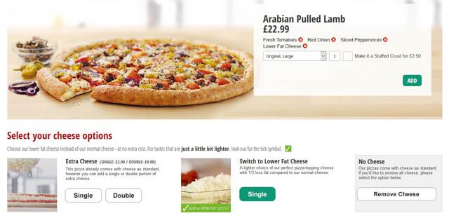 Papa Johns Pizza Ordering