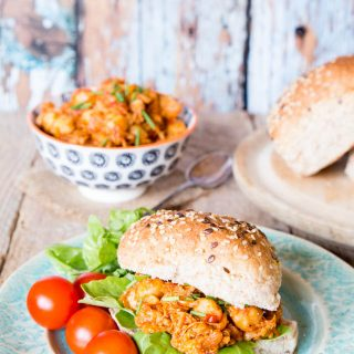 Pulled Chicken and Chickpea Sloppy Joes