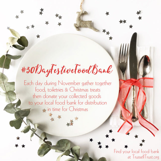 30 day festive food bank challenge
