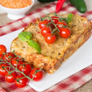 Veggie Packed Red Lentil Loaf {Vegetarian, Gluten Free}